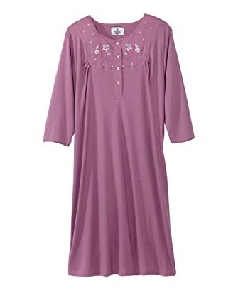 acbc5f70cc Silvert s Womens Adaptive Cotton Knit Hospital Gown - Assisted - Carnation  SMA