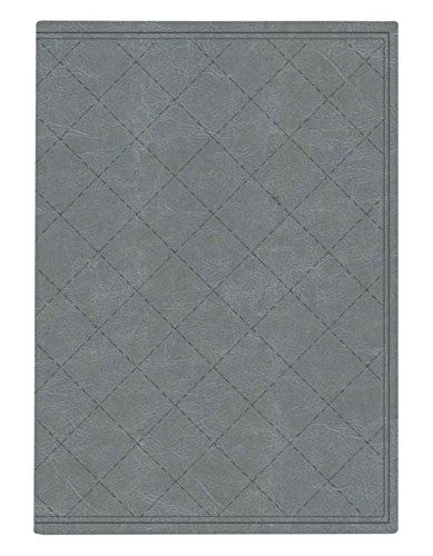 Pierre Belvedere Quilt Stitch Collection Large Hardcover Notebook with Padded Embossed Cover, Silver (7706360)