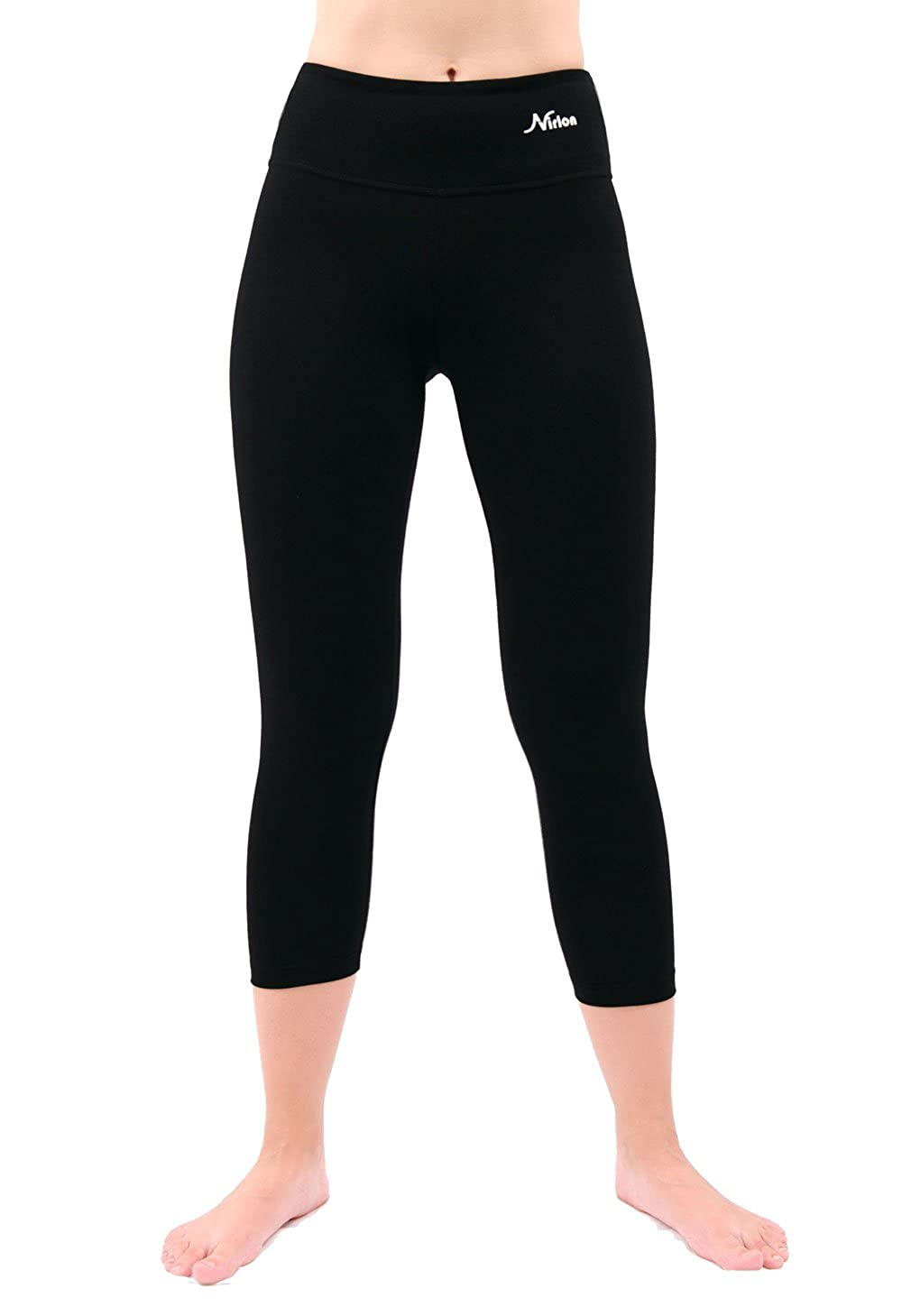 9a85575c5f1 Amazon.com  NIRLON Capri 7 8 Yoga Pants Capri s for Women Best Cropped  Leggings Athletic Running Jogging Workout   Sport Cotton Spandex  Clothing