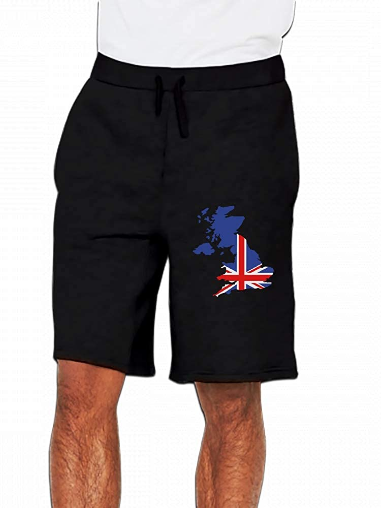 JiJingHeWang Great Britain UK Mens Casual Shorts Pants