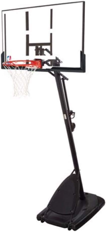 spalding 54 inches polycarbonate backboard portable basketball hoop