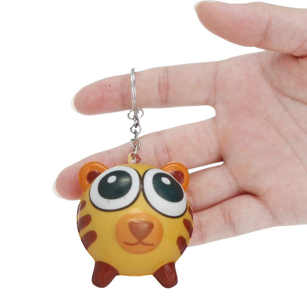 Flurries Squishies Kawaii Cartoon Animal Slow Rising Cream Scented Keychain Stress Relief Toys (C)