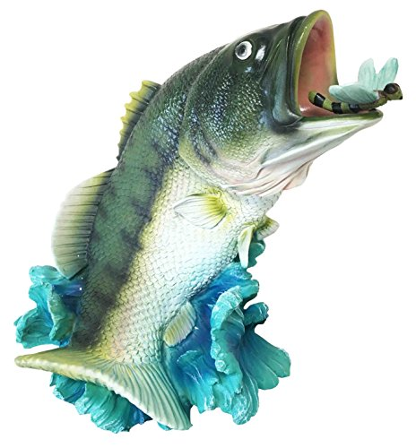 Largemouth Kit (Fisherman Freshwater Trophy Largemouth Bass Gamefish Catching Dragonfly Large Statue Home Decor Great Gift for Anglers Fishing Fans Leisure Water Adventure Lovers River Fish Conservers)