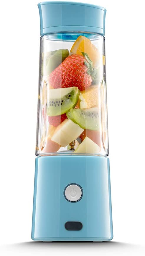 hhsuc USB Juicer Cup,Rechargeable And Portable Juicer,Mini Household Mixer For Baby Food ,Fruit,Milk Shake ,Personal Travel Blender Speed 16,500 rpm min And 400ML Capacity , FDA Approved, BPA Free