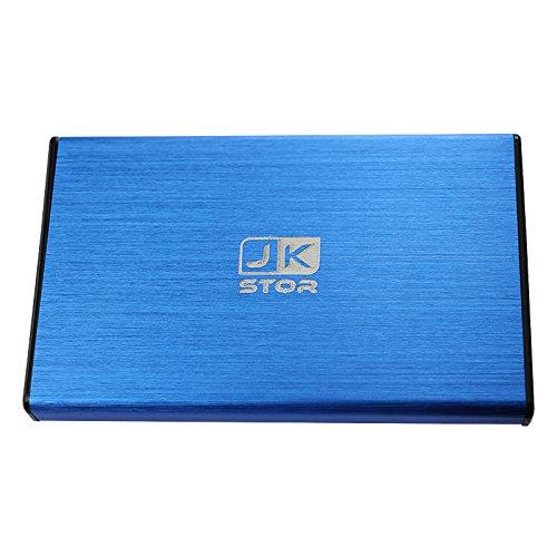 "(JKStor) :External USB 3.0 Portable Enclosure for 2.5"" SATA External Hard Drive (2 Years Warranty) (Blue)"
