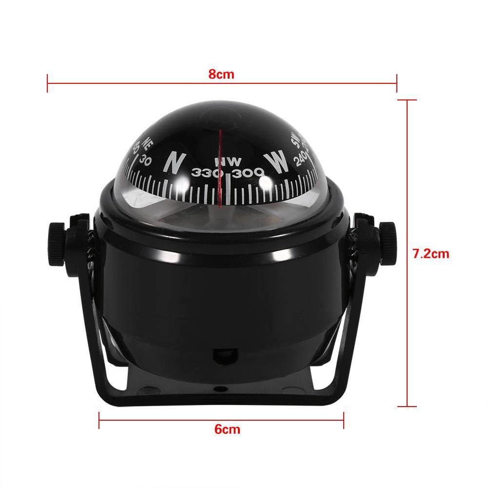 cami/ón br/újula digital para barco caravana 0.22 color negro color blanco o negro Br/újula de soporte para voyager multiusos Akozon