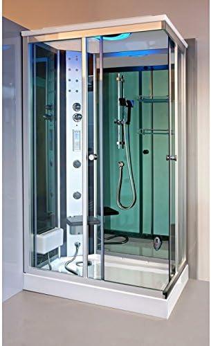 Cabina de ducha con hidromasaje Krystal 120 x 80 B: Amazon.es: Hogar