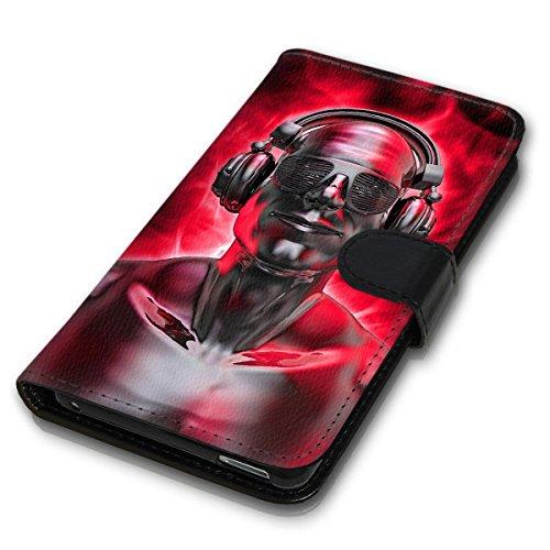 Wallet Book Style Flip Handy Tasche Case Schutz Hülle Schale Motiv Etui für Apple iPhone 4 / 4S - Design Flip MVD282