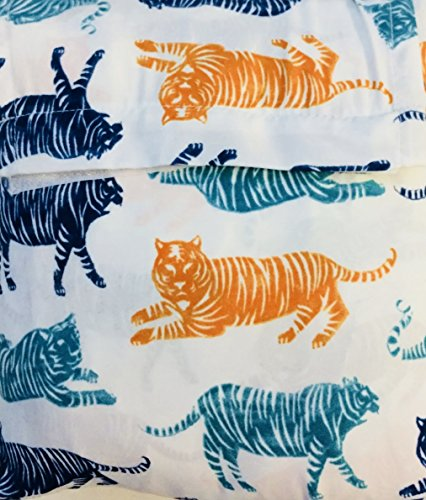Big Cat Block Party Twin Sheet Set - - Bug Sheet Set Blue