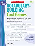 img - for Vocabulary-Building Card Games: Grade 6: 20 Reproducible Card Games That Give Children the Repeated Practice They Need to Really Learn and Use More Than 200 Words (Best Practices in Action) book / textbook / text book