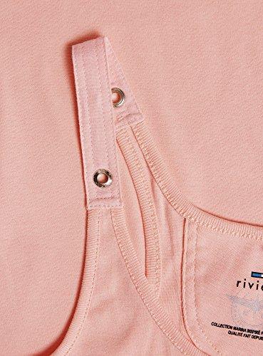 oodji Collection Mujer Camiseta Nadadora Rosa (5400N)