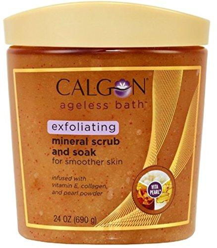 Calgon Ageless Bath Mineral Scrub and Soak, 24 oz Pack of 12