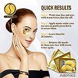Adofect 30 Pairs Gold Eye Mask Power Crystal Gel