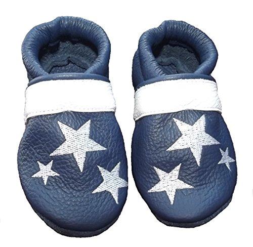 Kinder Sterne Viele blau und Krabbelschuhe JANAs 20 Grösse weiß 21 Unisex wxHIqT4P
