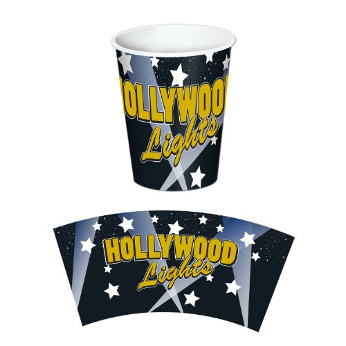Hollywood Lights Beverage - Hollywood Lights Beverage Cups   (8/Pkg)