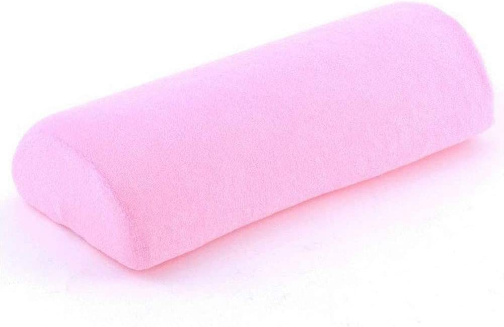 Bobioy Pink Memory Foam Bolster Pillow for Neck Back Lumbar Spine Knee Pain Relief Pillow Support Half-Moon