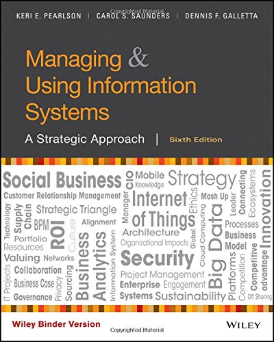 1119244285 - Managing and Using Information Systems, Binder Ready Version: A Strategic Approach