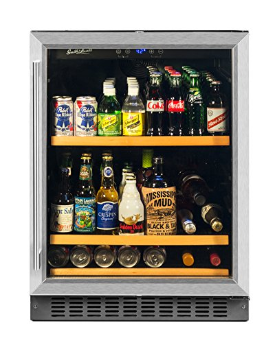 SRE 178 Can Capacity Single Zone Under Counter Beverage Refrigerator, 24 Inch Width, Built-In or Free Standing (24 Inch Wine Storage)