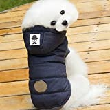 Cheap Dog Clothes 2016 Pet Clothes Winter Puppy Clothes Boy (L, Navy Blue)