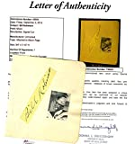 Bill Robinson Mr Bojangles D.49 Authenticated Signed Album Page Autograph - JSA Certified - MLB Autographed Miscellaneous Items
