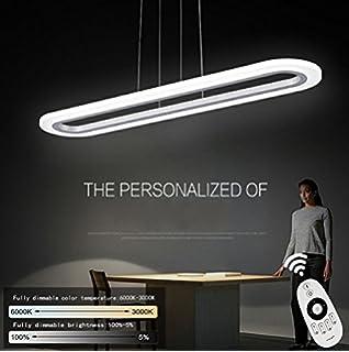 ZMH LED Pendelleuchte Esstisch Deckenleuchte 40W Dimmbar Büroleuchte  Höhenverstellbar Hängeleuchte, Die Helligkeit Kann Man Sich