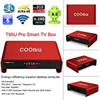 Smart TV Box, EEDI Coolbiz T95U Pro Android TV Box Android 6.0 Internet Media Streaming Device & Game Player,Octa Core 2GB DDR3+16GB dual WiFi 2.4G 5G Bluetooth 4.0 FULL HD 4K Streaming Media Player