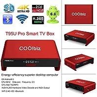 Smart TV Box, EEDI Coolbiz T95U Pro Android TV Box Android 6.0 Internet Media Streaming Device & Game Player,Octa Core 2GB DDR3+16GB dual WiFi 2.4G 5G Bluetooth 4.0 FULL HD 4K Streaming Media Player