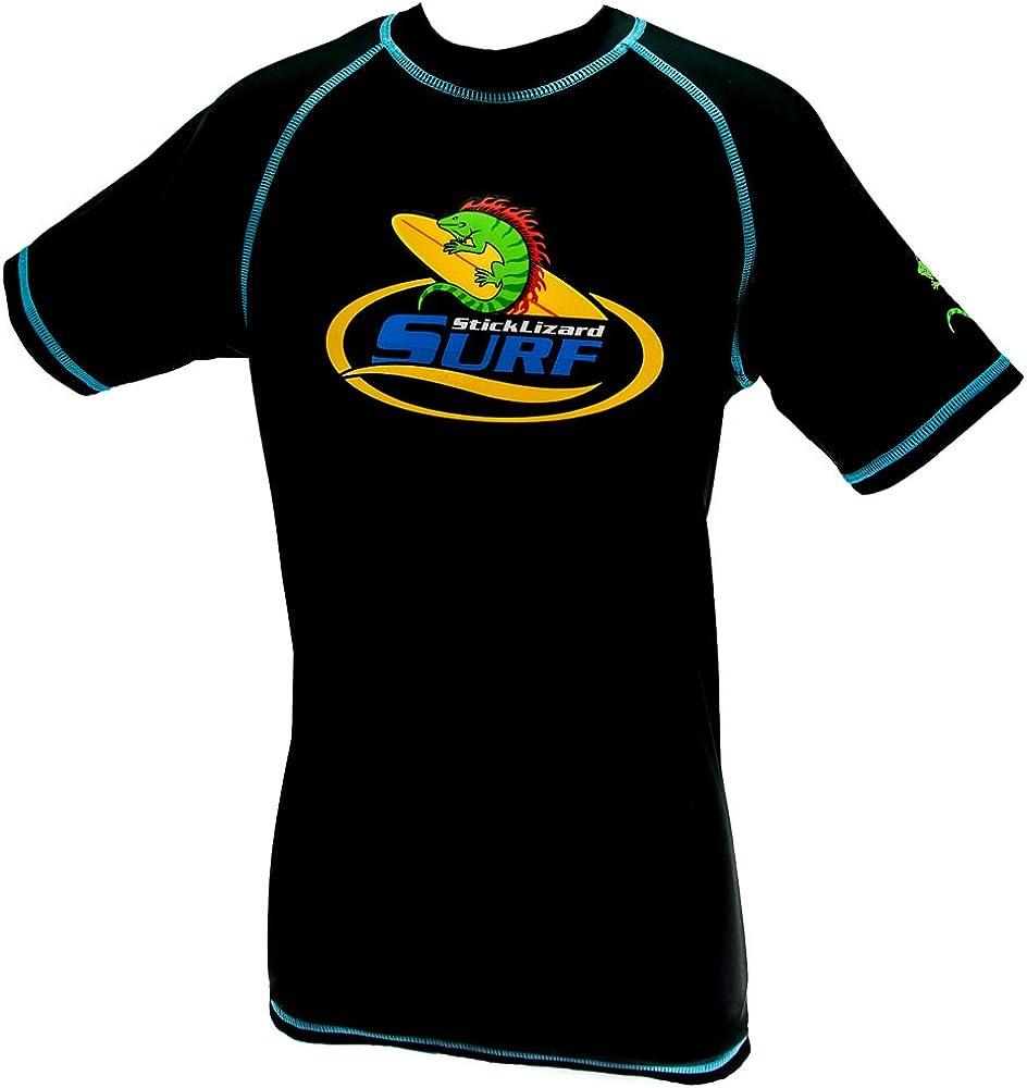 Stick Lizard Surf Boys Sun Protection Rash Vest UPF 50 Size 5-6//7-8//9-10//11-12//13-14 Years