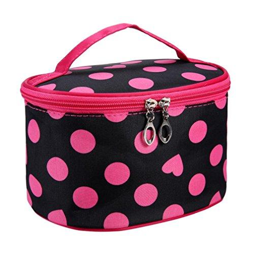 BEAUTYVAN Cosmetic Bag, Fashion Leopard Print Cosmetic Bags Women Travel Makeup Bag Make Up Bags (D) by BEAUTYVAN (Image #1)
