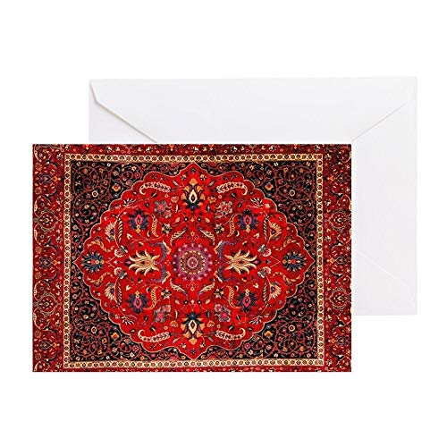 CafePress Persian Mashad Rug Greeting Card, Note Card, Birthday Card, Blank Inside Matte