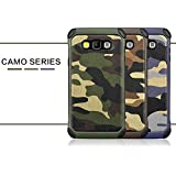 For SamSung Galaxy A8 (2015 Launched) Back Cover Case [[Army Camouflage]] Hybrid High Impact Shock Absorber Dual Layer Armor Defender Back Case Cover For SamSung Galaxy A8 A8000 Back cover Back case (Camouflage - Brown)
