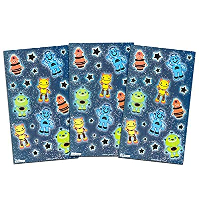 Space Cats Stickers Party Pack -- Bundle Includes 240 Cats Stickers with Bonus Spaceship Stickers (12 Sticker Sheets, Kitty Party Supplies): Toys & Games