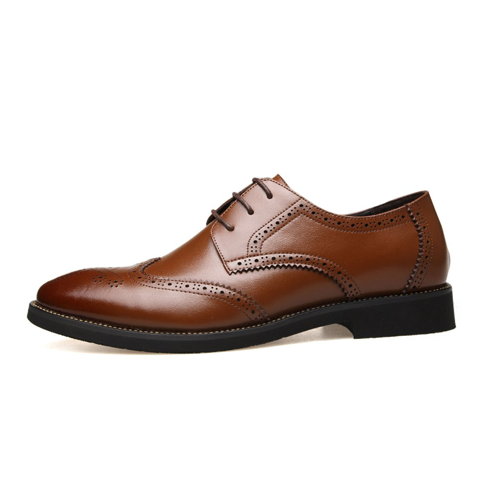 Feetmat Mens Oxford Shoes Lace up Wingtip Dress Shoes