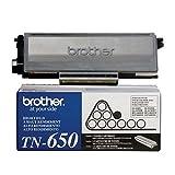 brother mfc8480dn toner - 2 Pack Original Brother TN-650 (TN650) 8000 Yield Black Toner Cartridge - Retail