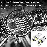 cciyu (10) T10 5-5050-SMD PC194 LED Bulb Instrument Panel Cluster Dash Light Twist Lock Socket