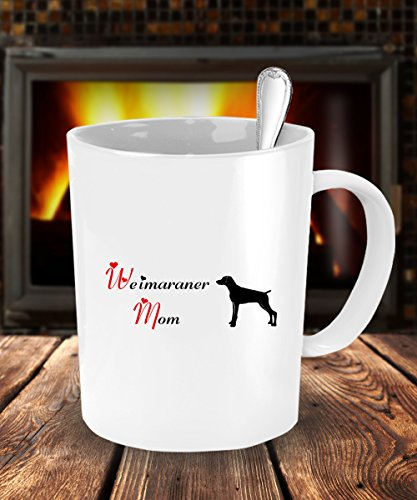 [Dog Lover Gifts For Mom - Weimaraner Dog White Coffee Mug - 11 oz Tea Cup - Ceramic] (Weimaraners In Costumes)