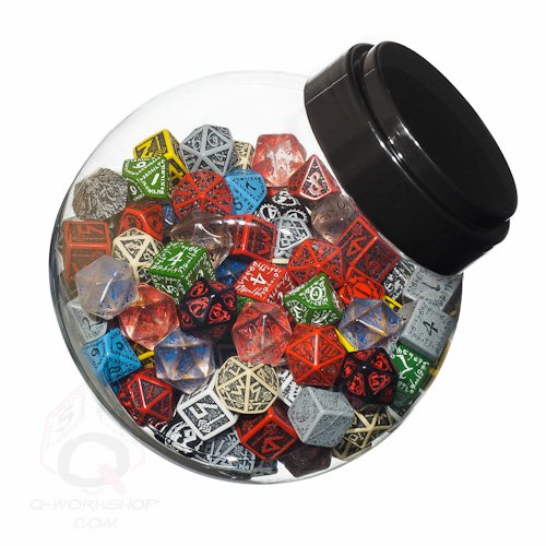 Q Workshop Jar of Dice #1 (150 STK.) Board Game