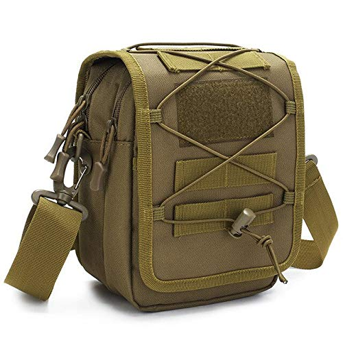 Khaki-d8l6  QWKZH Sacs à Dos Multifunction Tactical Shoulder Nylon sac Military Messenger sac Laptop Handsacs Briefcase de plein air Climbing Hiking sac