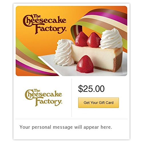Electronic Gift Card (The Cheesecake Factory Fresh Strawberry Cheesecake Gift Cards - E-mail Delivery)
