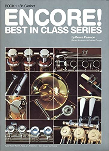 encore best in class series bb clarinet book 1 comprehensive band series