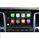 LFOTPP Hyundai Santa Fe / Tucson /Azera / Elantra / Sonata 2017 8-Inch Glass Car Navigation Screen Protector, [9H] Tempered Glass Center Touch Screen Protector Anti Scratch High Clarity