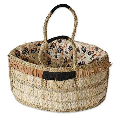 NOVICA Beige Natural Fiber Handbag, 'Shopping Basket' by NOVICA