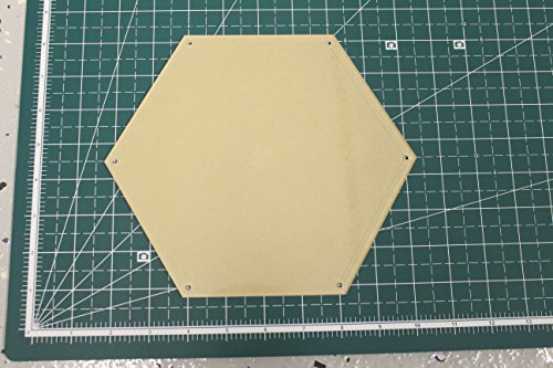 Hexagon Quilting Template 8'' with 1/4'' Seam Allowance by LaserThing