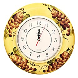 Tuscany Kitchen Decor Grape Wall Clock