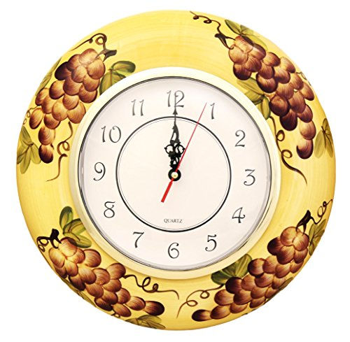 Decor Grape (Tuscany Kitchen Decor Grape Wall Clock)