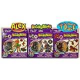 Shrinky Dinks Ballerina Jewelry, Pony Jewelry & Midnight Jewelry Gift Set Bundle - 3 Pack