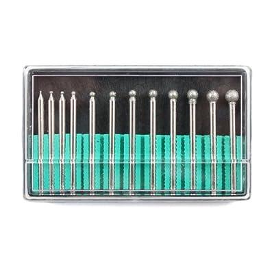 "12pc Universal 1/8"" Shank Diamond Burr Bit Set For Dremel Rotary Tool 150 Grit from Universal Tool"