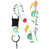 Buttonsmith School Days Premium Lanyard with Buckle and Flat Ring - Made in The USA