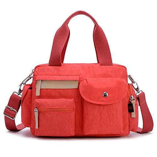 Aoligei Imperméable en nylon sac à bandoulière léger pli résistant Loisirs Sports sac féminin oxford chiffon messager sac à main B