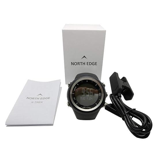 North Edge X-Trek Reloj GPS Digital Hora Medidor Inteligente Reloj de Pulsera Pace Velocidad Calorías Medida Reloj Impermeable Running Watch: Amazon.es: ...